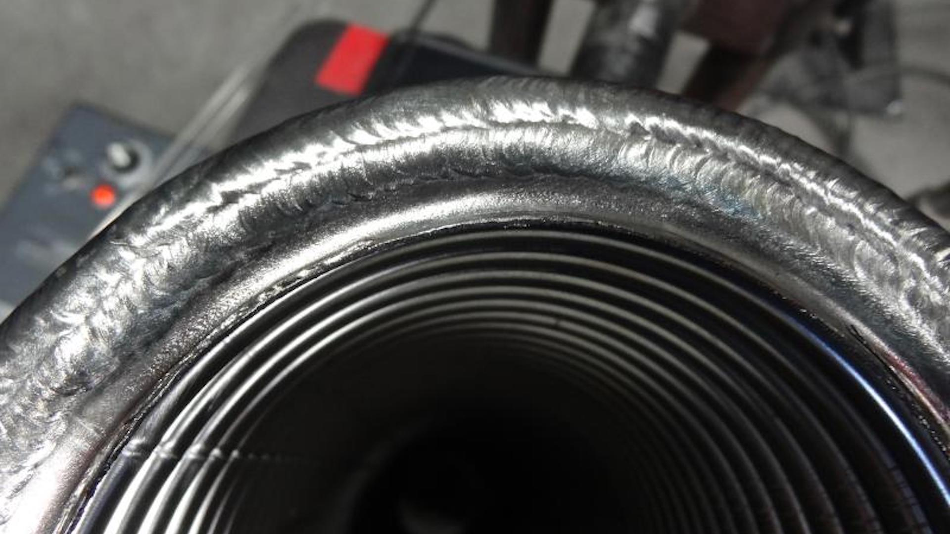 Cap Pass on a 4 Assembly combined with armour on the OD weld