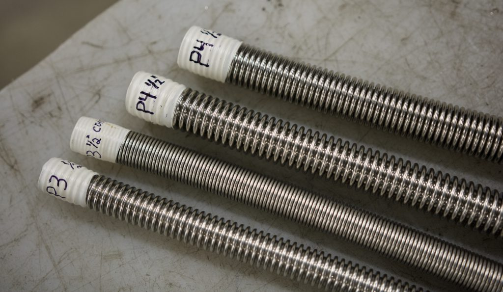 Flexible Metal Hoses P3 and P4 Standard and Compressed Pitch
