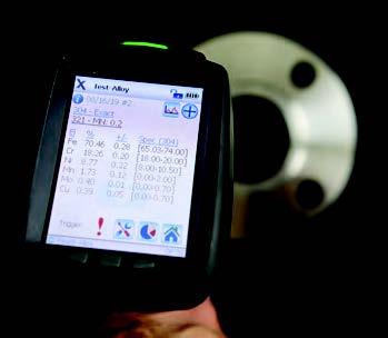 PMI analyzer reveals flange is 304 SS