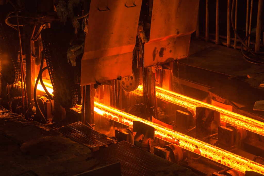 Steel Mills - Water Cooling Lines on Continuous Castors