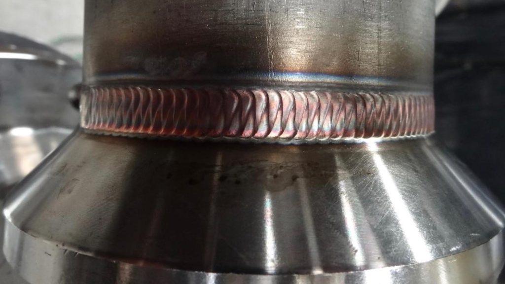 """Weldolet intersector on an 8"""" hose.jpeg - Welds 5"""