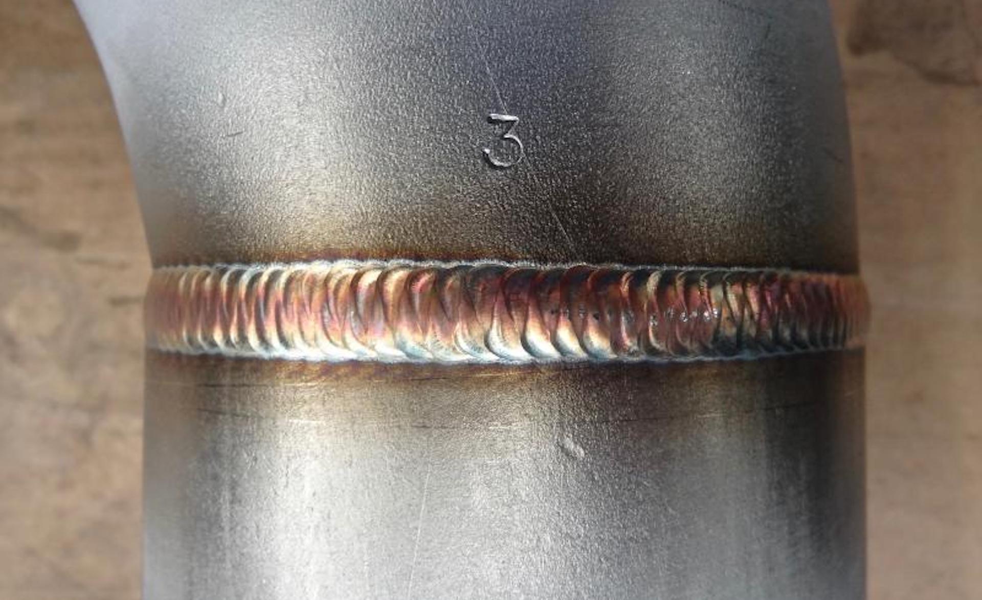 full penetration butt weld on a 4 pipe